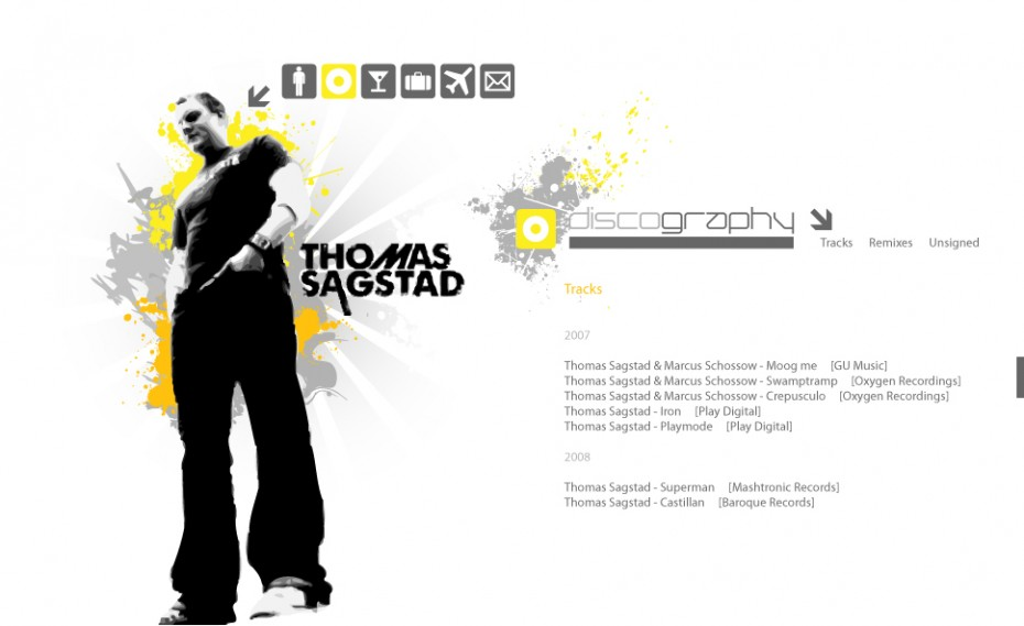 Sagstad website *caption graphic design