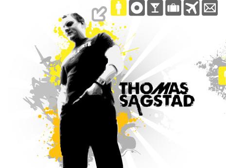 Sagstad website *caption graphic design