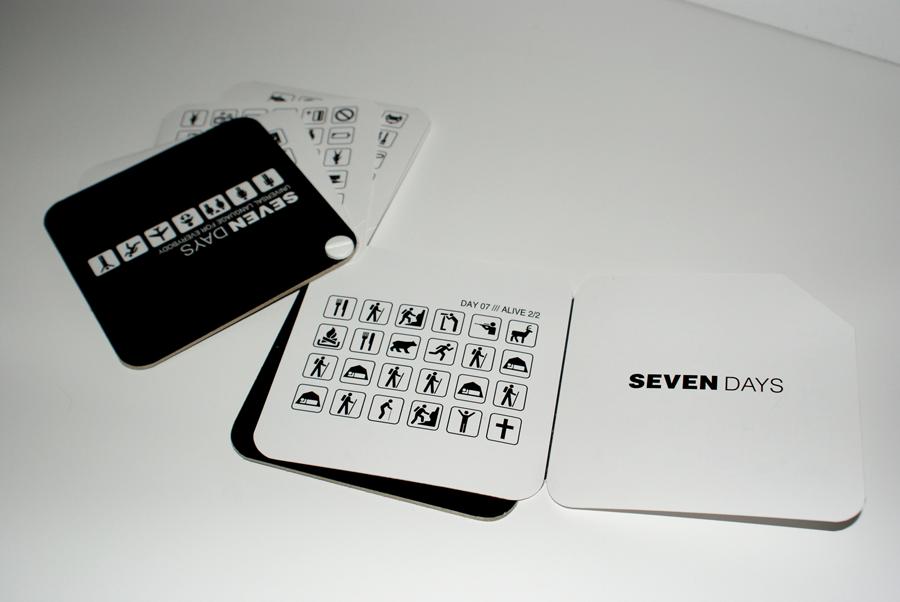 seven days book *caption graphic design