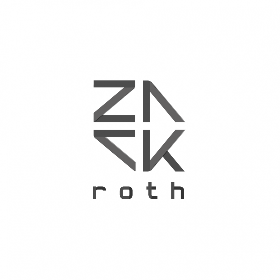 Zack Roth logotype *caption graphic design