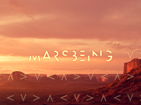Marsbeing logotype *caption graphic design