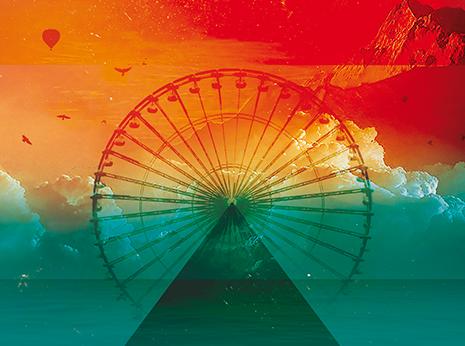 Wonderland album *caption graphic design