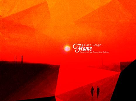 Cara Leigh Flame album *caption graphic design